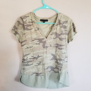 Sanctuary Camo print shirt